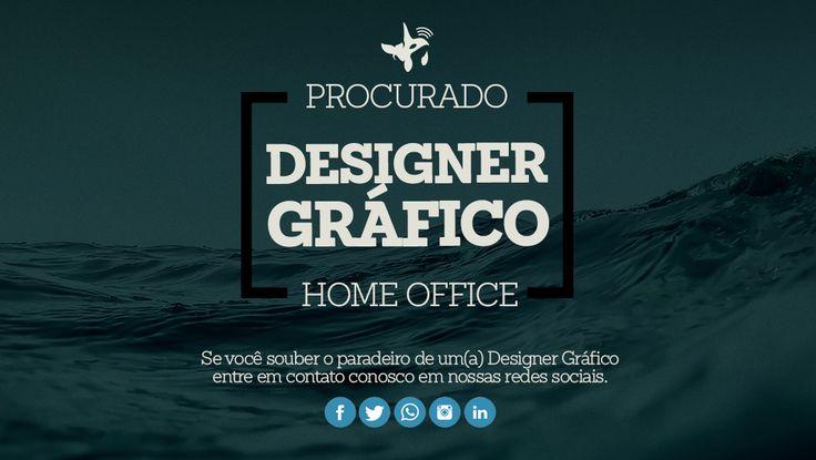 Estamos a procura de um(a) Designer Gráfico. Caso conheça marque aqui nessa postagem. Recompensa: 1 milhão de novas ideias e tudo mais será consequência de um ótimo trabalho. Currículos: contato@orcaagency.com.br 🐳🐳🐳🐳  Um oceano de oportunidade - Agência Orca 2017    Contatos:  21 972664496 (WhatsApp)  E-mail: contato@orcaagency.com.br  www.orcaagency.com.br     #Agencia #publicidade #art #artegrafica #design #designthinking #marketing #advertising #mkt #ootd #love #amo #Niteroi…