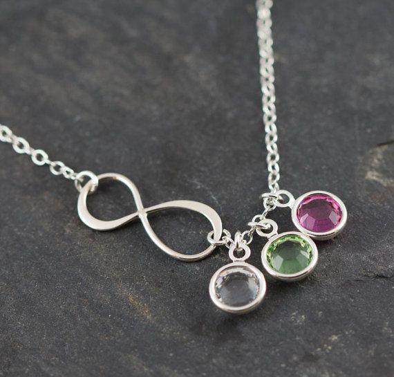 birthstone necklace necklace infinity necklace