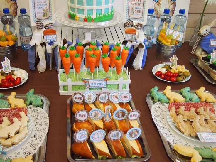 Peter Rabbit Chevron Blue Birthday Party Ideas | Photo 13 of 74 | Catch My Party
