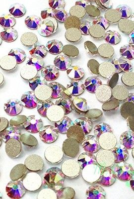 144-pcs-Crystal-AB-001-AB-Swarovski-NEW-2088-Xirius-20ss-Flat-backs-Rhinestones-5mm-ss20-0