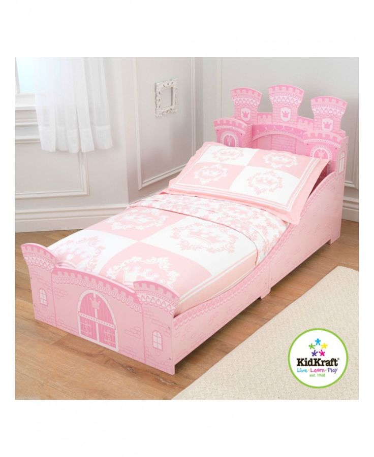KidKraft Princess Castle Junior Toddler Bed Stunning Makes The Transition From A Cot To Regular As Easy Possible Low