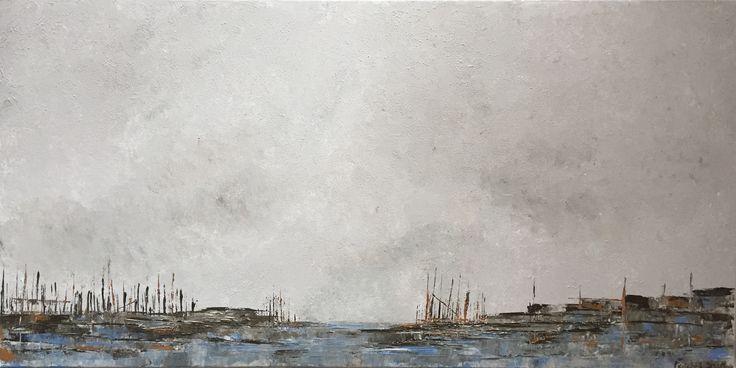 Peinture acrylique sur toile 40 x 80 cm