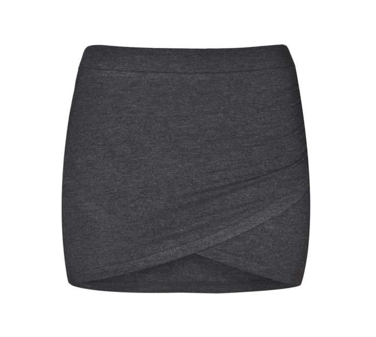 THE ODDER SIDE Crossover mini skirt. Shop at www.theodderside.com