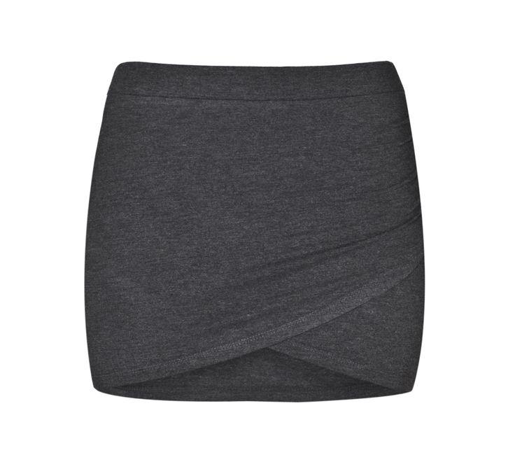 THE ODDER SIDE Crossover mini skirt. Shop at www.theodderside.com