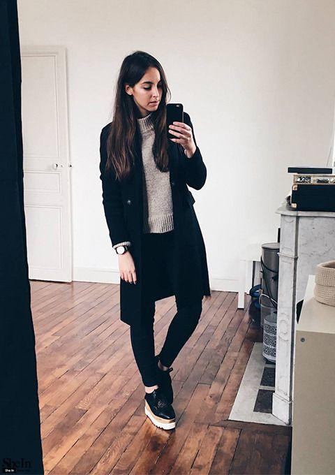 Suéter largo - Galería de estilos y lookbook de Shein www