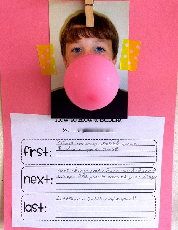 Writing Activities - awesome display for a procedure writing activity!