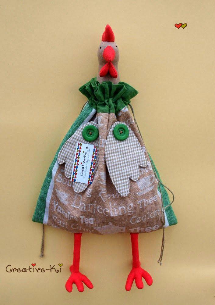 Creative-Ki: Cockerel-bag / Петух-пакетница