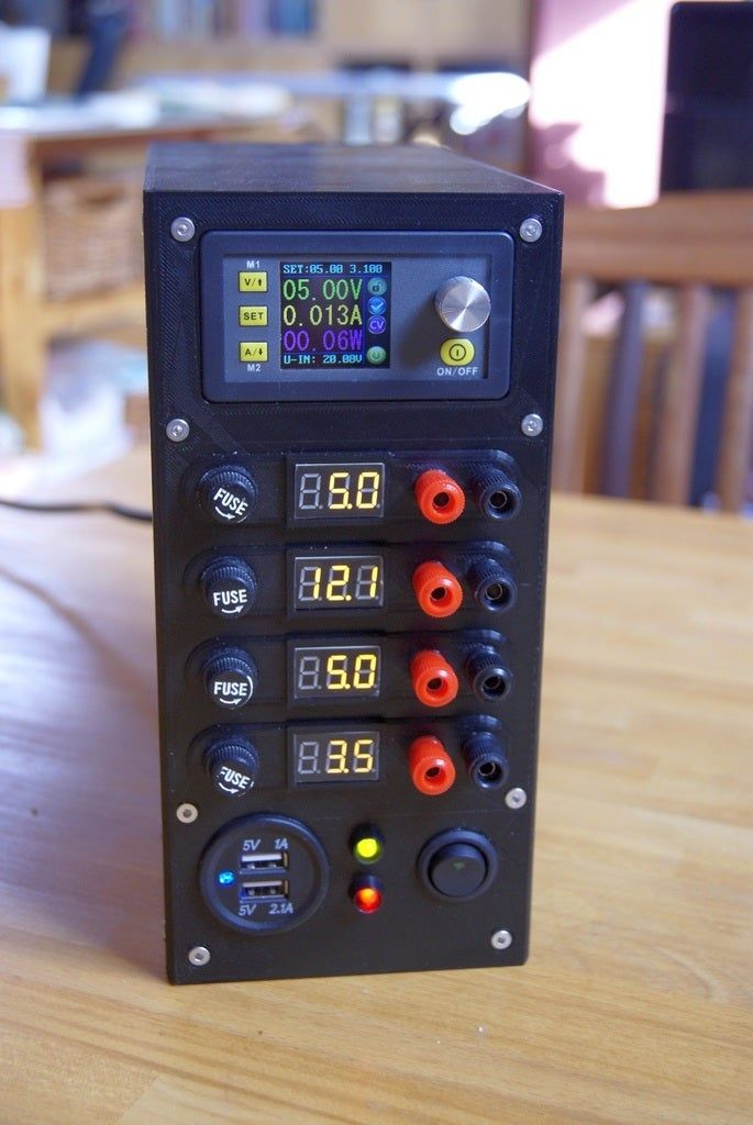 Another Atx Bench Power Supply By Flash24 Thingiverse In 2020 Electronics Projects Diy Computer Power Supplies Electronics Projects