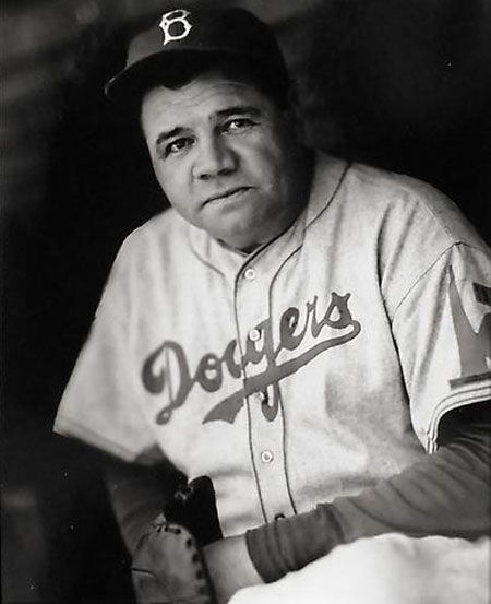 "June 18, 1938 – Hall of Fame slugger Babe Ruth signs a contract to coach with the Brooklyn Dodgers. ""The Babe"" dons a Dodger uniform the next day, entertains observers with a batting demonstration and works the first-base coaching box. Ruth wore uniform No. 35 and the Dodger coaching position was the last job of Ruth's baseball career."