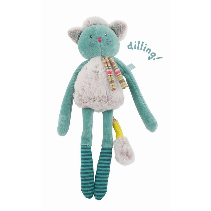Weiche Rassel Katze in türkis für Baby´s aus der Les Pachats Kollektion von Moulin RotyDie zuckersüße Rassel Kätzchen von Moulin Roty wird Ihr Baby begeistern. Die allerliebste kleine Katze ist das erste Kuscheltier ihres Baby`s und...