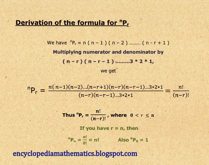 Permutation formula derivation.