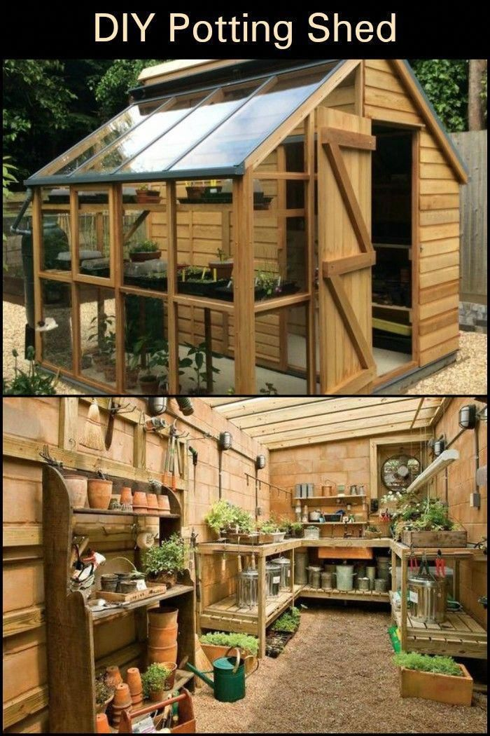 "Not only is it a potting shed, it is also used as a garden tool storage and a ""greenhouse"" for starting seeds."