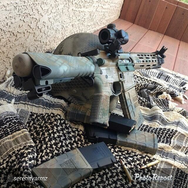 Great camo done using DuraCoat on this awesome AR15! Visit www.lauerweaponry.com to create your masterpiece!