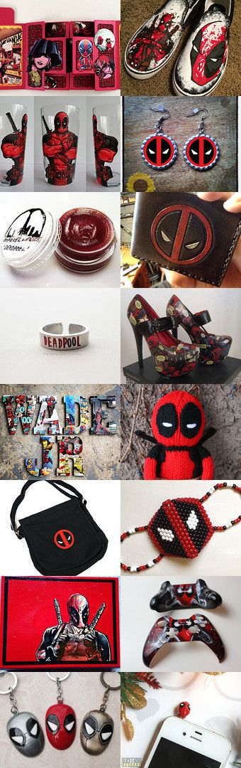Wade Wilson AKA:  DEADPOOL  by Jacquelyn on Etsy--Pinned with TreasuryPin.com