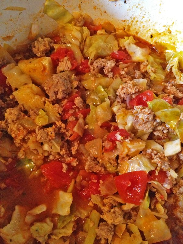 Unstuffed Cabbage Rolls - My variation. Hearty, low carb, delicious!!