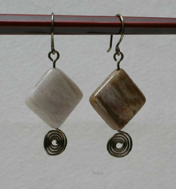 Petrified Wood and Gun Metal Wire Wrapped by BeccsCreations, $20.00