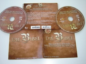 German Bible Reading selections on 2 MP3 Discs Old and New Testament / Die Bibel Altes und Neues Testament Gesamtausgabe    32 hours or reading / 32 Stunden