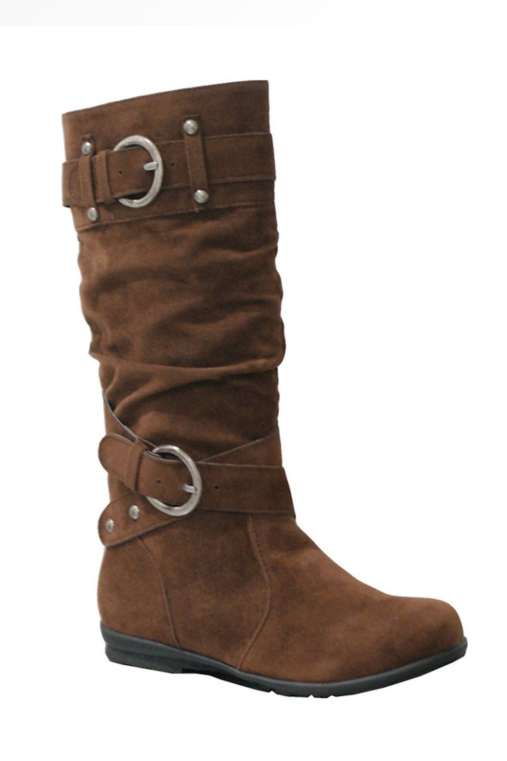 Girls' Brown Buckle Boot