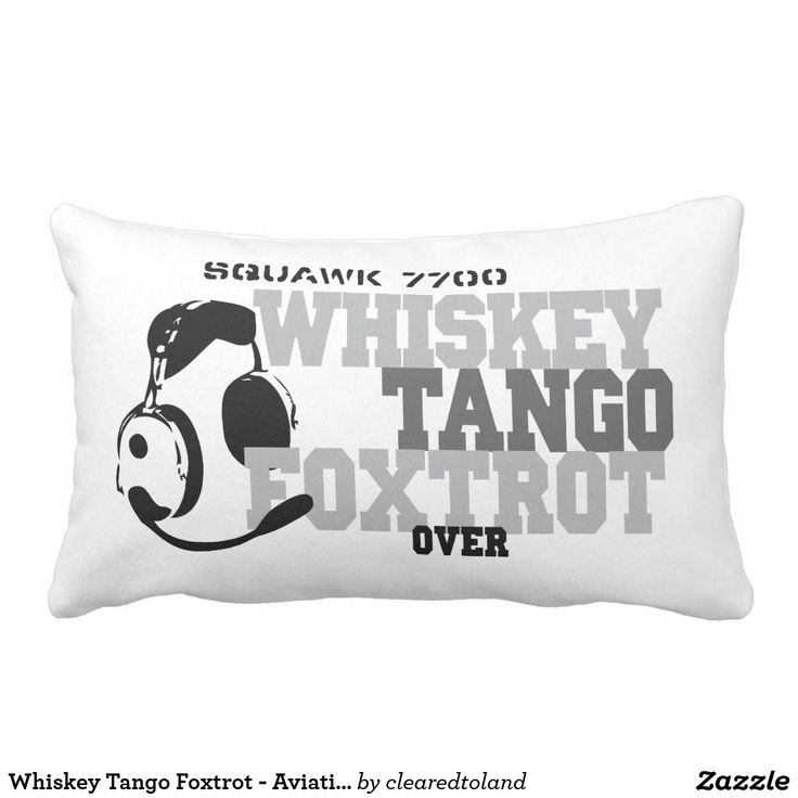 Whiskey Tango Foxtrot - Aviation Humor Lumbar Pillow