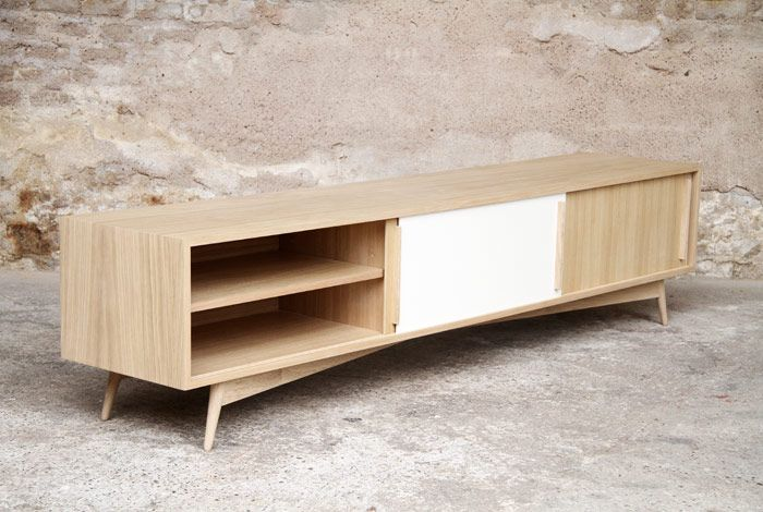 meuble tv 220 45 35 esprit vintage cr ation gentlemen. Black Bedroom Furniture Sets. Home Design Ideas