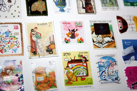 100 Postage Stamps Cultures History People Art Music Movies Sports Historical Modern Stamps Illustrations Collectible Paper Art Scrap book