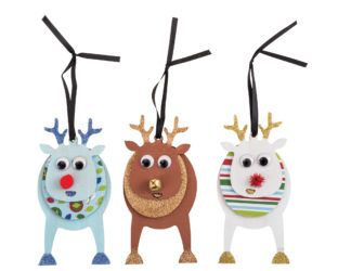 Wooden layered reindeer make the perfect ornament!