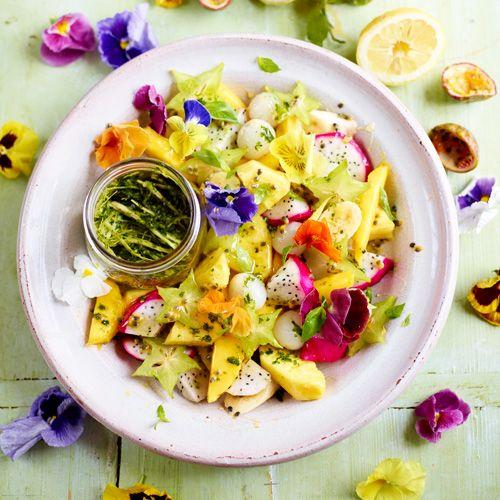 Vruchtensalade met pittige dressing recept - Jamie magazine