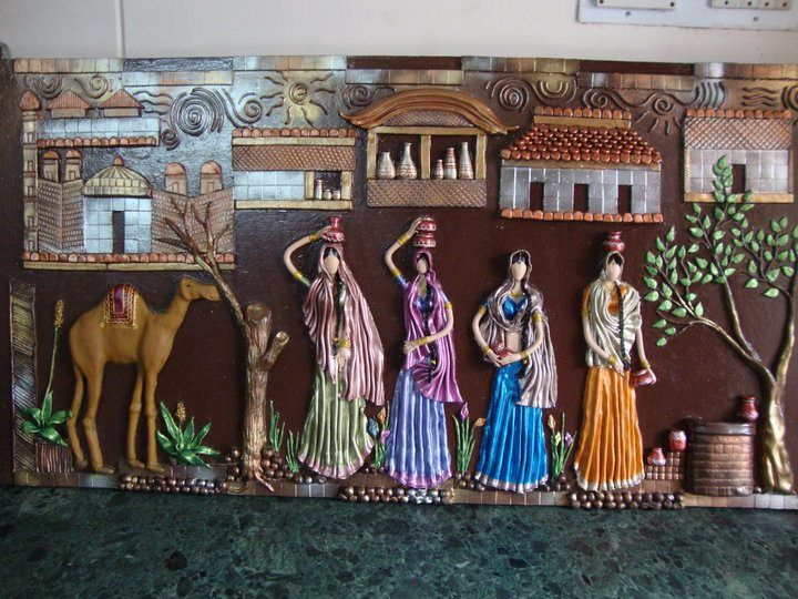 40 best images about murals on pinterest ganesha clay for Arts and crafts mural