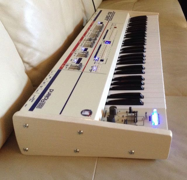 "MATRIXSYNTH: Custom White ""Cream Meanie"" Roland Juno-106"