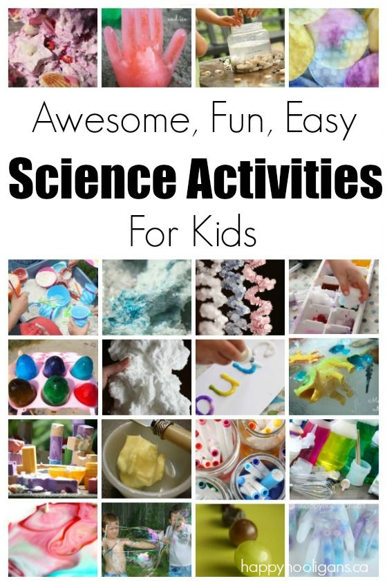 Science Activities for Kids - tons of easy, inexpensive and awesome science experiments for kids of all ages from preschool right the way up. - Happy Hooligans