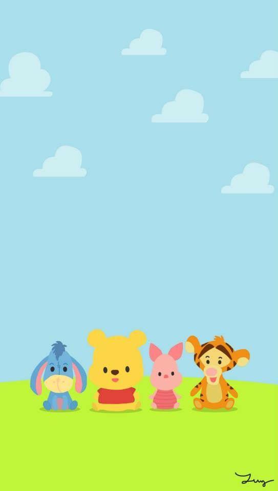 Bear Wallpaper Kawaii Disney Phone Backgrounds Iphone Wallpapers Cellphone Pooh Eeyore Tigger