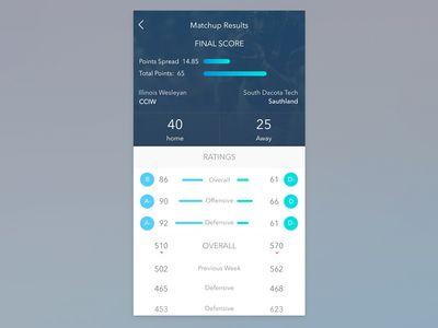 Sports iOS App Concept