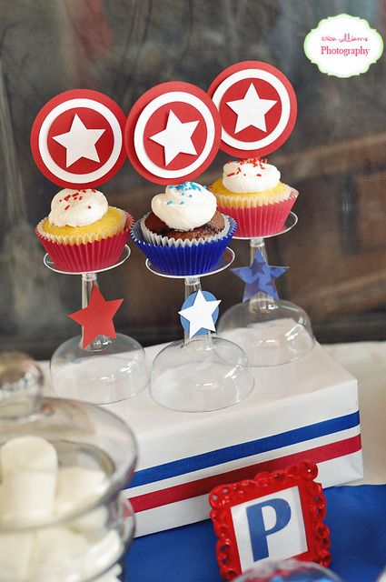 """Photo 6 of 23: Captain America / Birthday """"Peyton turns 5 with Captain America"""" 