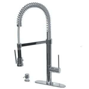 Charming Pegasus Marilyn Commercial Single Handle Pull Down Kitchen Faucet With Soap  Dispenser In Brushed Nickel