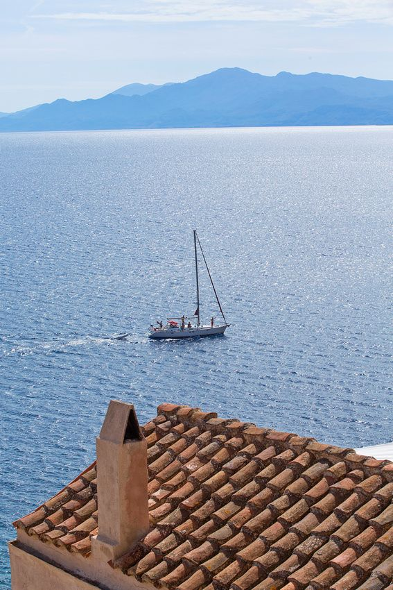 Sailing in Monemvasia, Greece