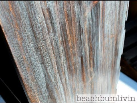 http://beachbumlivin.com Layering stain for a cool effect! How to paint furniture then distress it to give your furniture that antique finish. Refinishing and painting furniture tips and techniques and using Stain to create a cool look.    This weeks project I demonstrate how layering stain can give you ...