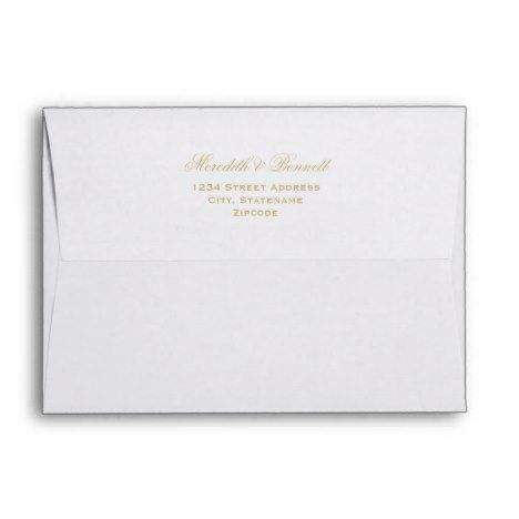 5 x 7 Mailing Envelopes with Gold Return Address - get yours tap/click now!