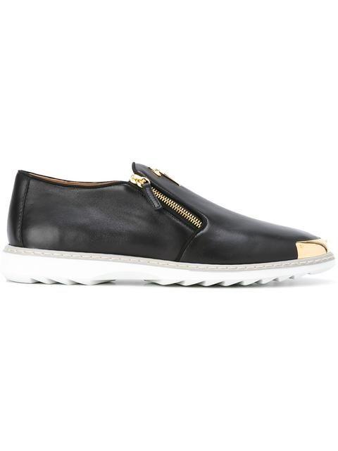 Logoball Chaussures De Sport En Cuir Pleine Fleur - Noir Giuseppe Zanotti RDxOhzf1Ae