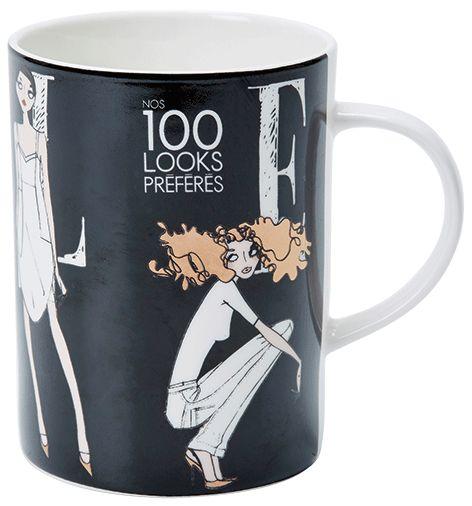 ELLE - La Mode Black Mug