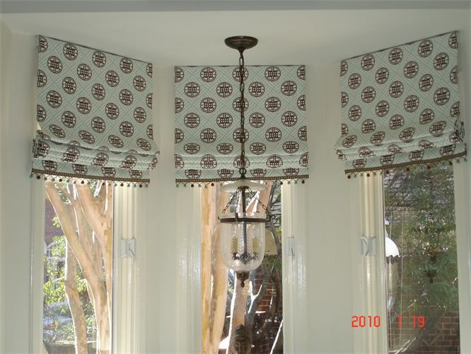 Straight Soft Roman Blind W Ball Trim Roman Blinds