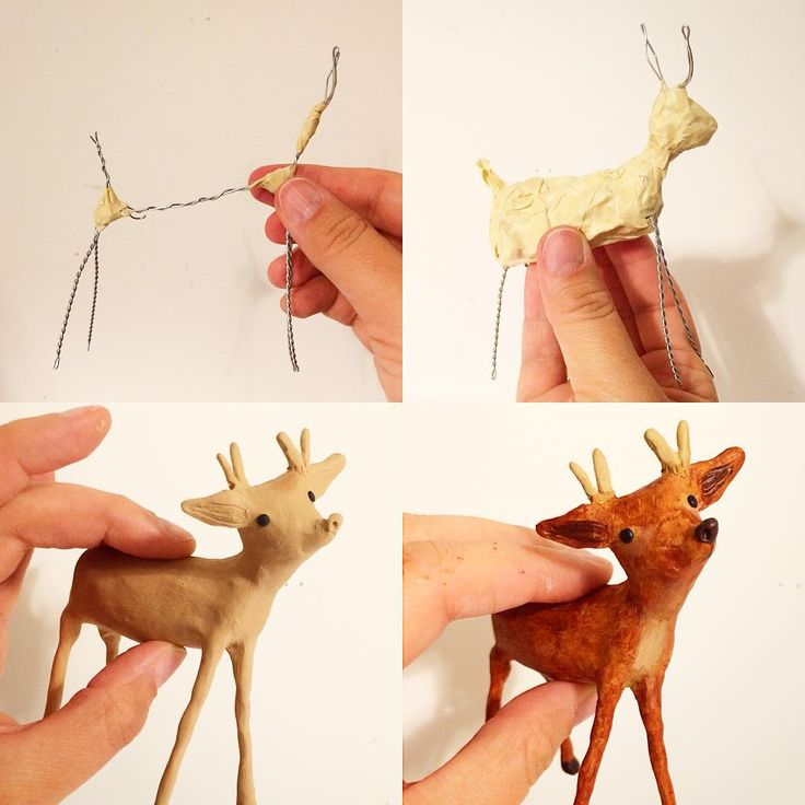 """""""I made a deer for an upcoming diorama. Here are the basic steps I take when making a sculpt. Armature is your sculpting BFF!"""""""