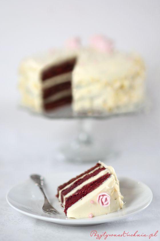 Red Velvet Cake - #przepis na #tort red velvet krok po kroku  http://pozytywnakuchnia.pl/tort-red-velvet-red-velvet-cake/  #kuchnia #ciasto
