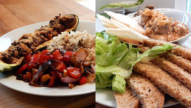 24 kitchen | Aziatische gevulde courgette & gehaktballetjes in pindasaus | Danny Jansen