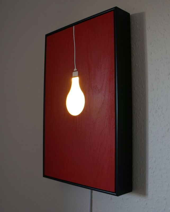 wall art lighting ideas. edison light bulb wall art in red by relume on folksy 12000 lighting ideas o