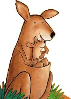 Verteltas Kleine Kangoeroe met liedjes en spelletjes op kleutergroep