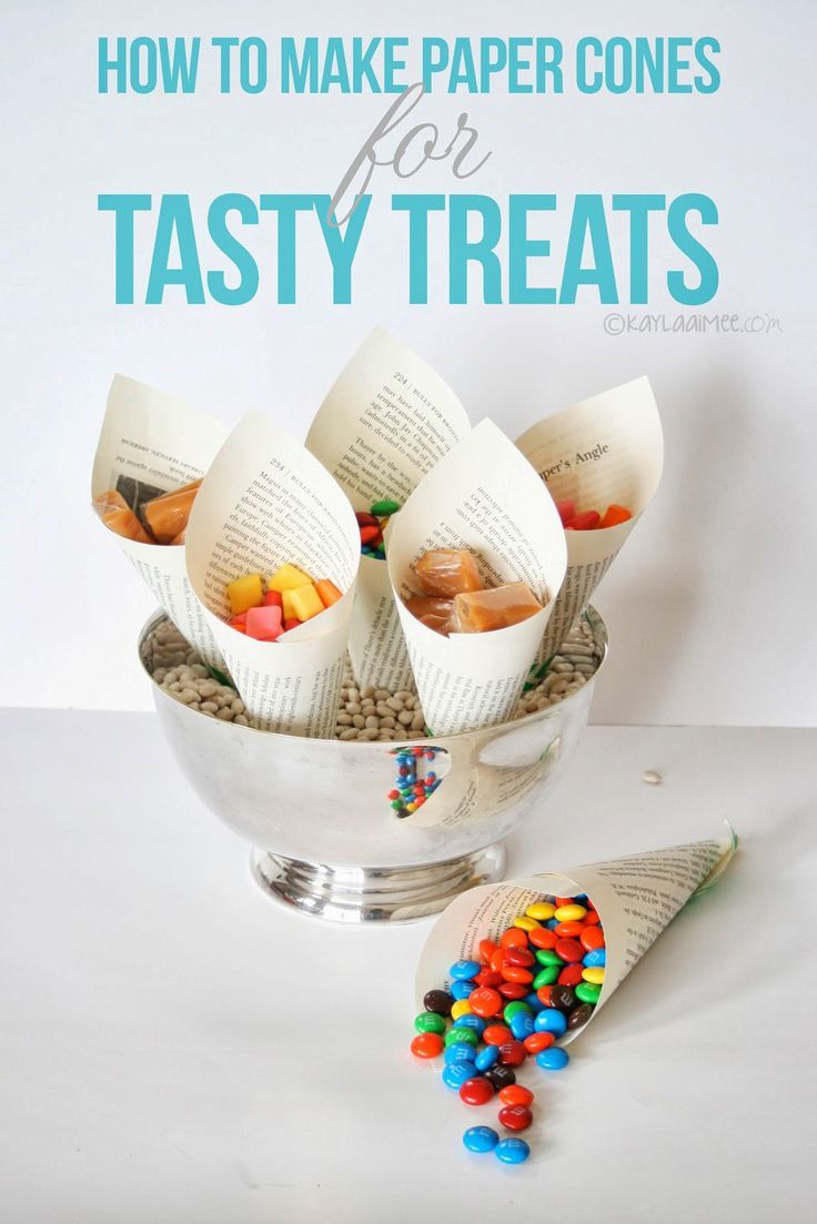 How To Make Easy Paper Cones For Holding Treats- Cute Party Idea!