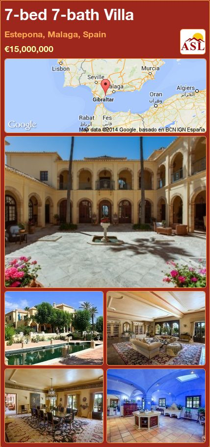 7-bed 7-bath Villa in Estepona, Malaga, Spain ►€15,000,000 #PropertyForSaleInSpain