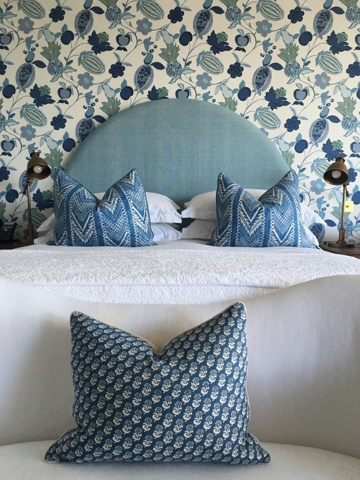 Loving the mix of textiles from Halcyon House, a hotel in Australia from Brisbane based Anna Spiro of Black and Spiro