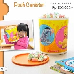 Pooh Canister - Tupperware Bogor | Katalog Tupperware Maret 2013 Nama Produk: Tupperware Pooh Canister Harga: Rp. 150,000,- Ukuran: 4L/ ø: 19,3 cm; t: 21 cm