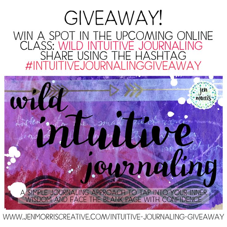 Win a free spot in my online journaling class! - Jen Morris Creative #intuitivejournalinggiveaway